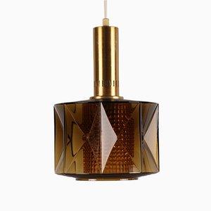 Lámpara colgante sueca de Carl Fagerlund para Orrefors, años 60