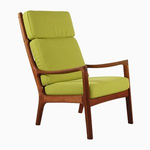 Teak Chair with Woolen Fabric by Ole Wanscher for France & Søn, 1960s