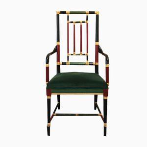 Italienischer Armlehnstuhl aus Kunstbambus, 1970er