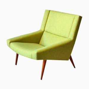 Grüner Dänischer Mid-Century Modell 50 Sessel von Illum Wikkelso für Soeren Willadsen