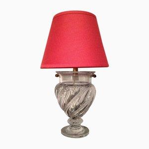 Lámpara de mesa pequeña de vidrio, años 40