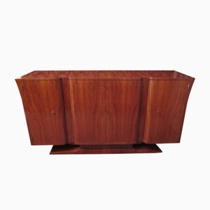 Italian Art Deco Curved Walnut Sideboard, 1930s