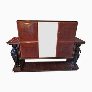 Mueble bar italiano de chapa de palisandro, años 40