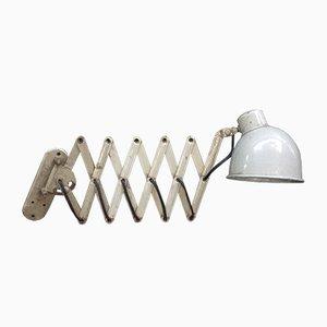 Vintage Industrial Beige Scissor Lamp