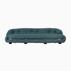Large Four-Seater Soriana Sofa by Bianchin & Scarpa for Cassina, 1970s