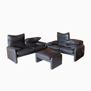 Maralunga Seating Group by Vico Magistretti for Cassina, 1985