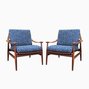Model 153 Lounge Chairs by Finn Juhl for France & Søn, 1950s, Set of 2
