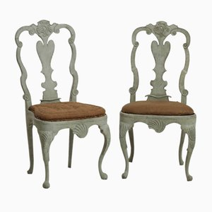 Scandinavian Rococo Chairs, 1750s, Set of 2