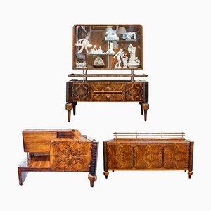 Muebles polacos Art Déco, años 30. Juego de 3