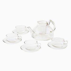 German Glass Tea Set by Ilse Decho for Jena Glas, 1970s