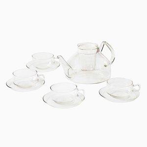 Juego de té alemán de vidrio de Ilse Decho para Jena Glas, años 70