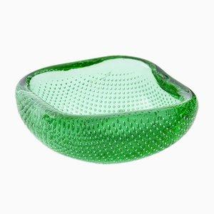 Grüne Vintage Glasschale von Andries Dirk Copier für Leerdam Glass Factory