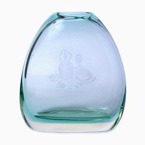Jarrón Mid-Century de vidrio Sommerso de Flavio Poli para Seguso Vetri D'arte