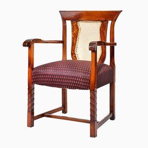 Tschechischer Art Deco Eichenholz Armlehnstuhl
