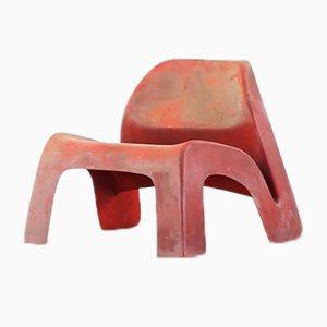 Chaise en Fibres de Verre par Luigi Colani pour Essmann KG, 1967