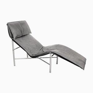 Chaise longue in pelle di Tord Bjorklund, anni '70