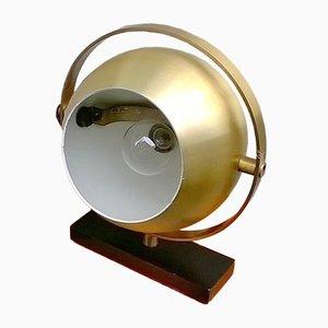 Lámpara de mesa de latón de Stilux, años 60