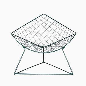 Oti Green Metal Wire Lounge Chair by Niels Gammelgaard for Ikea, 1986