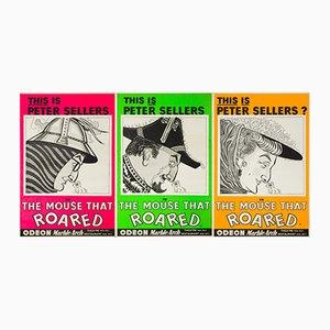 Die Maus, die Brüllte Filmplakate von John Stockle, 1959, 3er Set