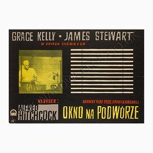 Póster vintage de la película Rear Window de Witold Janowski
