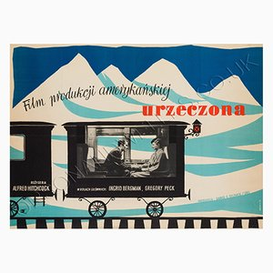 Póster polaco vintage de la película Spellbound