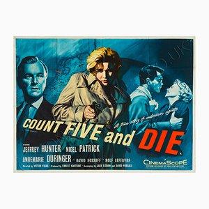 Póster de la película 'Cuenta hasta cinco y muere' de Chantrell, 1957