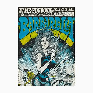 Barbarella Film Poster by Karel Saudek, 1971
