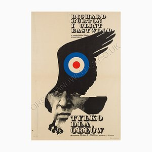 Polish Where Eagles Dare Film Poster by Maciej Zbikowski, 1972