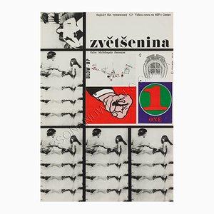 Tschechisches Blow-up Filmplakat von Milan Grygar, 1963