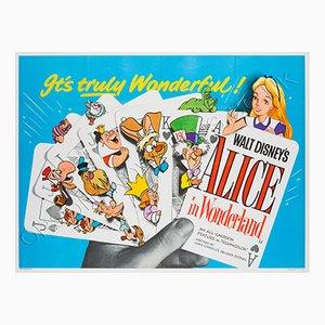 Mid-Century Alice im Wunderland Filmplakat