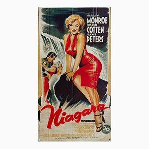 Französisches Vintage Niagara Filmplakat von Boris Grinsson