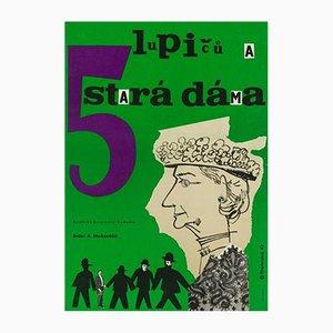 Affiche de The Ladykillers par Richard Fremund, République Tchèque, 1963