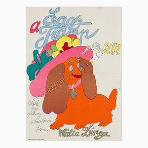 Plakat zum Film Susi und Strolch vom Tschechischen Künstler Stanislav Duda, 1974