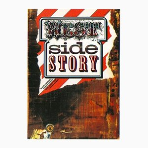Vintage Czech West Side Story Film Poster by Zdeněk Ziegler