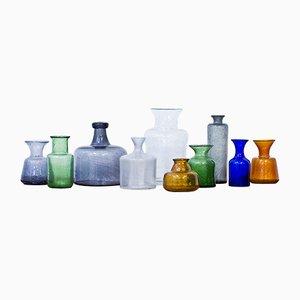 Vases Vintage par Erik Höglund pour Boda, 1950s, Set de 10