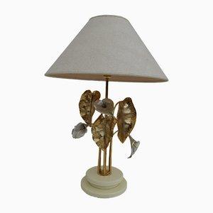 Vergoldete und Versilberte Mid-Century Lampe von Lanciotto Galeotti für L'Originale