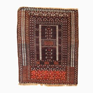 Handmade Turkoman Hachli Rug, 1950s