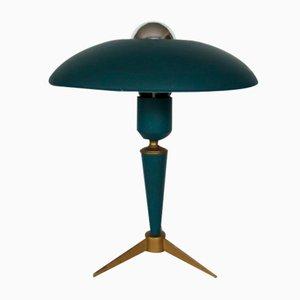 Lámpara de mesa Mid-Century verde de Louis Kalff para Philips