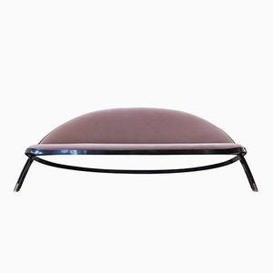Vintage Saturno Sofa mit Rosa Bezug aus Samt von Gastone Rinaldi für Rima