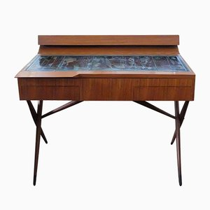 Mid-Century Walnut Desk by Ico & Luisa Parisi for Altamira, 1954