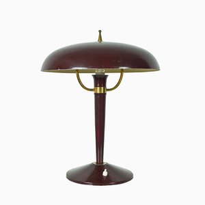 Vintage Italian Cast Iron Table Lamp, 1950s