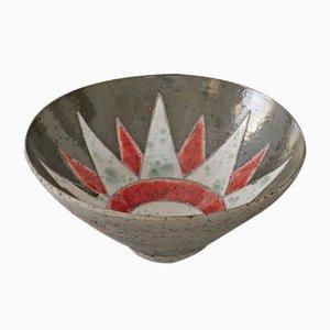 Ritmo e Colore Red Bowl by Paolo Spalluto for Camp Design Gallery