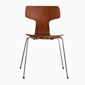 Chaise Hammer Modèle 3103 Mid-Century en Teck par Arne Jacobsen pour Fritz Hansen, 1963