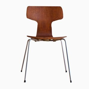 Mid-Century Danish Teak Model 3103 Hammer Chair by Arne Jacobsen for Fritz Hansen, 1963