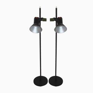 Lámparas de pie Crocus, años 80. Juego de 2