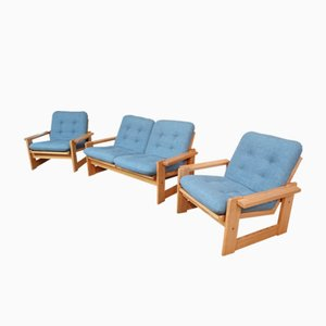 Niederländische Vintage Polsterstühle und Zwei-Sitzer Sofa von Pastoe, 1969