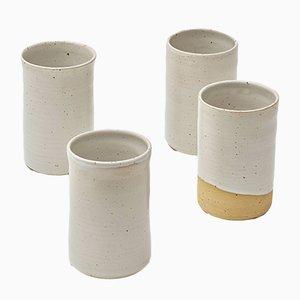 Tazas Bezanson & Balzar de cerámica de R.EH para Reiss. Juego de 4