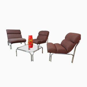 Mid-Century Lounge Set from Evertaut International, 1970s, Set of 4