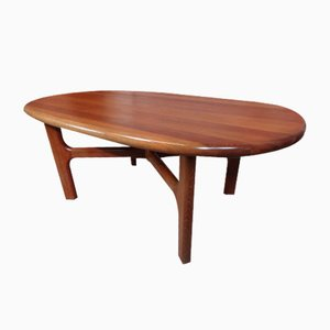 Mid-Century Solid Teak Coffee Table from Dyrlund, 1970s