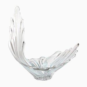 Pieza de centro Mid-Century escultural de cristal
